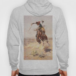 A Bad Hoss by Charles Marion Russell (c 1904) Hoody