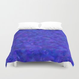Royal Blue Floral Abstract Duvet Cover
