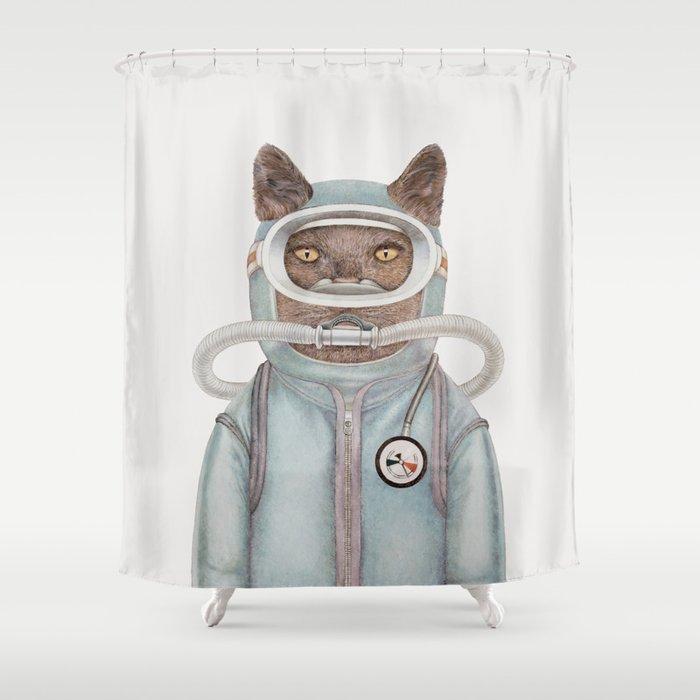 Scuba Cat Shower Curtain by animalcrew | Society6