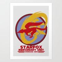 starfox Art Prints featuring Mercenary Unit - Starfox by TomStreetArt