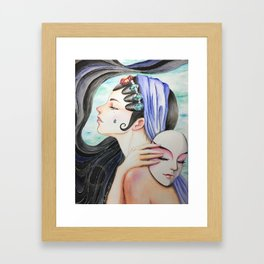 Madame White Snaked II Framed Art Print