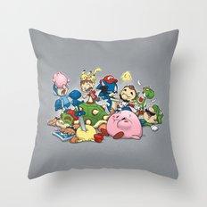Smash Brawl Throw Pillow