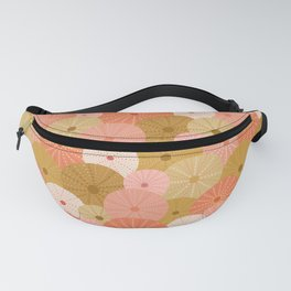 Sea Urchins in Coral + Gold Fanny Pack