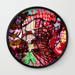 Lotusline  Wall Clock