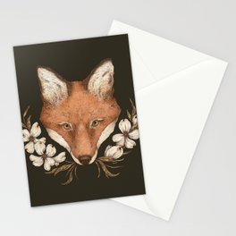 The Fox and Dogwoods Stationery Cards