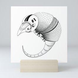 Armadillo Rollerskates Mini Art Print