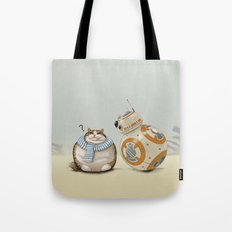 CAT AND DROID Tote Bag