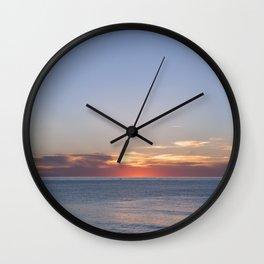Sunset at Etretat, France Wall Clock