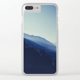 daybreak blues Clear iPhone Case