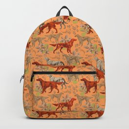 Irish Red Setter Dogs Pattern Backpack