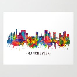Manchester Skyline Art Print