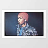 asap rocky Art Prints featuring Asap Rocky by Enna
