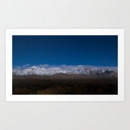 Starry Sierras Art Print