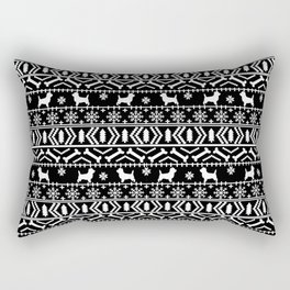 Cairn Terrier dog breed pet pattern fair isle christmas sweater cute holiday dog lover Rectangular Pillow
