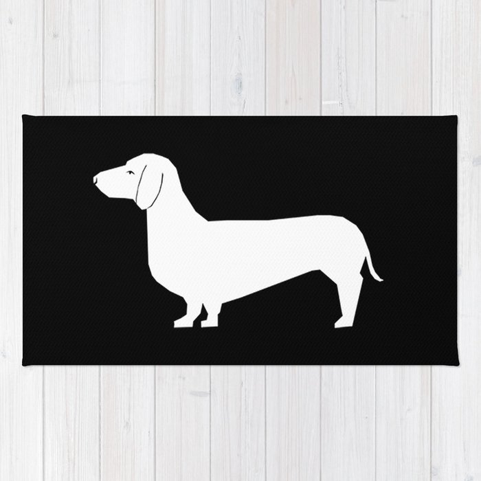 Dachshund Silhouette Minimal Black And White Dog Lover Home Decor