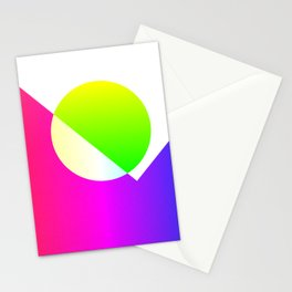 Gradient Abstrac Landscape Stationery Cards