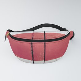 White Red White Fanny Pack