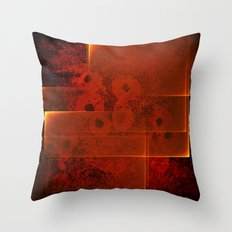 Abstract fiery landscape Throw Pillow