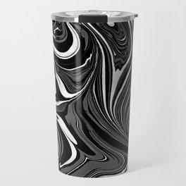 Black White Grey Marble Travel Mug