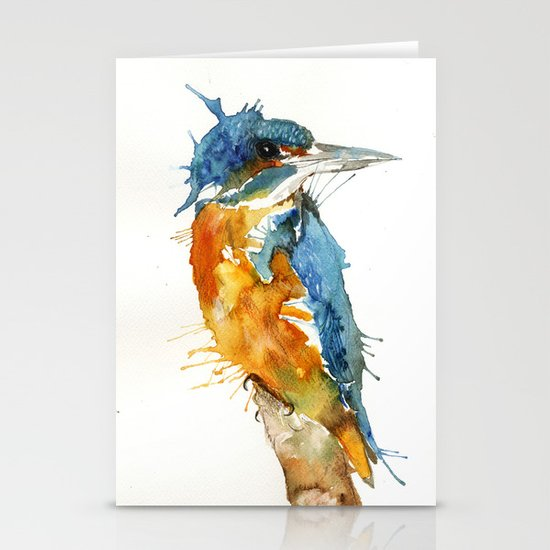 Mr Kingfisher Stationery Cards