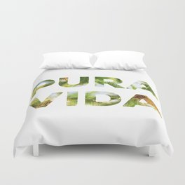 Pura Vida Costa Rica Palm Trees Duvet Cover