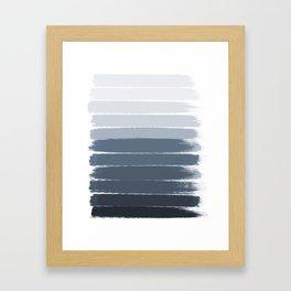 Tasli - ombre paint brushstrokes grey fade trendy dorm college home decor Framed Art Print