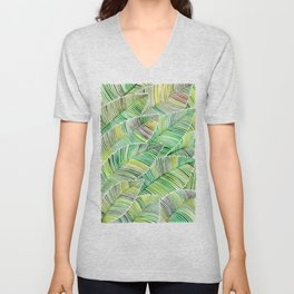 Tropical Green Unisex V-Neck