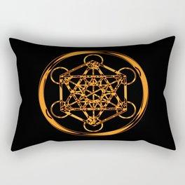 Metatron Cube Gold Rectangular Pillow