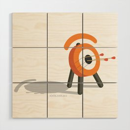 arrowed glance Wood Wall Art