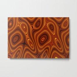 Amber Lava 2 Hi Res Metal Print