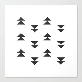 Mudcloth double triangles Canvas Print