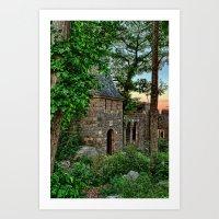 Gatehouse in the evening Art Print