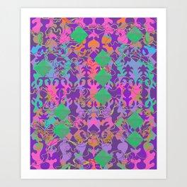 Baroque my world Purple Art Print