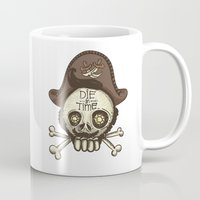 pirate Mugs featuring pirate by adi katz