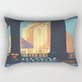 Vintage poster - Toronto Rectangular Pillow
