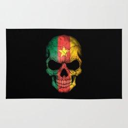 Dark Skull with Flag of Cameroon Rug