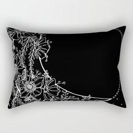 The Flower Moon; Crescent Moon; Feathers; Dream Catcher; Chalk Art Rectangular Pillow