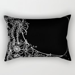 The Flower Moon; Crescent Moon; Feathers; Dream Catcher; Chalk Art Rectangular Pillow