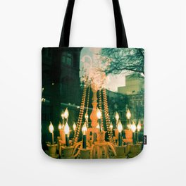 City Chandelier Tote Bag