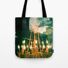 City Chandelier Tote Bag