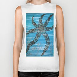 Starfish Splendour Biker Tank