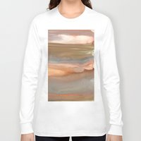 agate Long Sleeve T-shirts featuring Peach Agate by Amie Amyotte