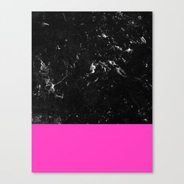 Pink Meets Black Marble #1 #decor #art #society6 Canvas Print