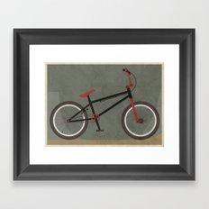 BMX Bike Framed Art Print