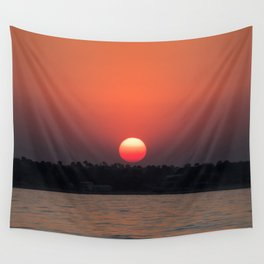Really red sun Wall Tapestry