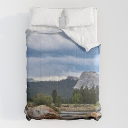 Wallpaper Yosemite USA Creek Nature Spruce Mountai Comforters