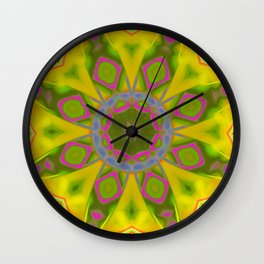 Abstract Flower AAA R Wall Clock