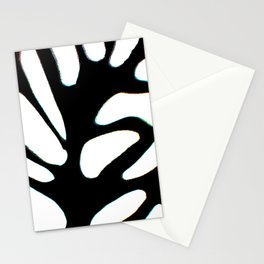 winter tree black and white abstract painting Stationery Cards