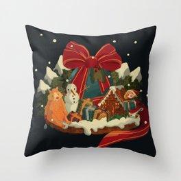 Christmas Island Throw Pillow