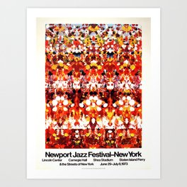 Vintage 1973 Newport Jazz Festival Poster Art Print